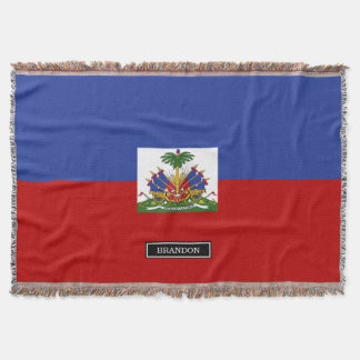 Classic Haitian Flag Throw Blanket