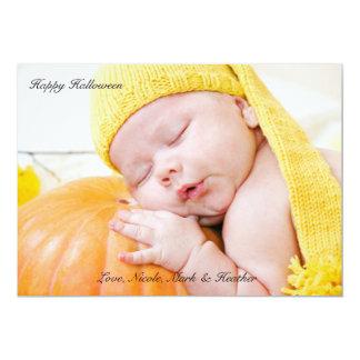 Classic Halloween Photo Notecard 13 Cm X 18 Cm Invitation Card