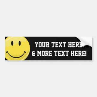 Classic Happy Face Bumper Sticker
