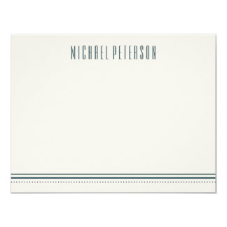 Classic Hexagon Men's Stationery - Ocean 11 Cm X 14 Cm Invitation Card