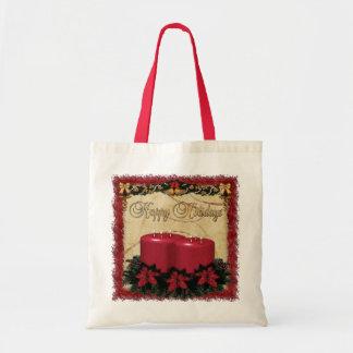 Classic Holiday Deco Christmas GIFT Budget Tote Bag