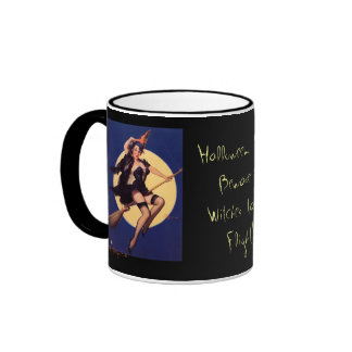 Classic Holloween Pin-Up Circa 1920's Ringer Mug