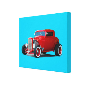 Classic Hot-Rod Car Stretched Canvas Prints