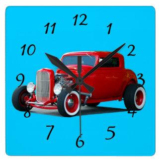 Classic Hot Rod Car Clock