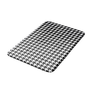 Classic houndstooth pattern Dogstooth check design Bath Mat