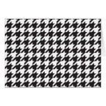 classic houndstooth style print greeting card