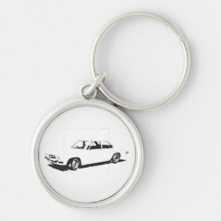 Classic HQ Holden Keyring Silver-Colored Round Key Ring