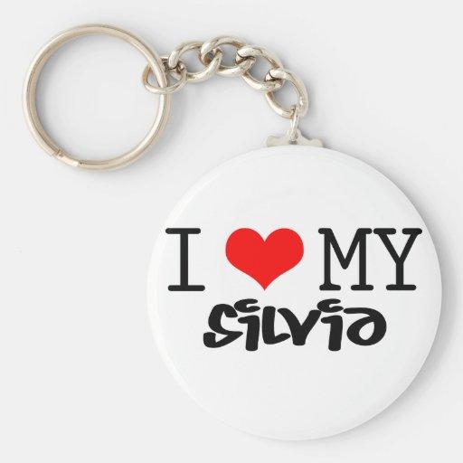 """Classic """"I Love My Silvia"""" design Keychain"""
