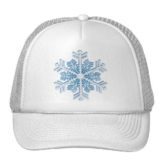 Classic Icy Blue Winter Christmas Snowflake Cap