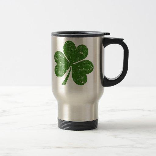 Classic Irish Shamrock Stainless Steel Travel Mug