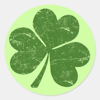 Classic Irish Shamrock Classic Round Sticker