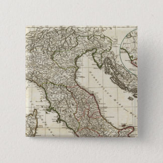 Classic Italian Map 15 Cm Square Badge