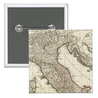 Classic Italian Map 15 Cm Square Badge