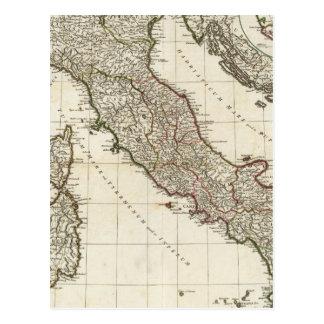 Classic Italian Map Postcard