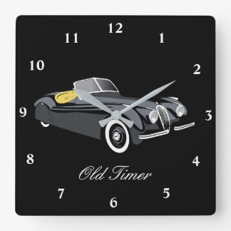 Classic Jaguar Car 'Old Timer' Wall Clock