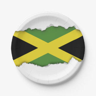 Classic Jamaican Flag 7 Inch Paper Plate