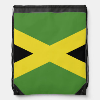 Classic Jamaican Flag Drawstring Bags