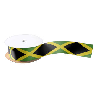 Classic Jamaican Flag Satin Ribbon