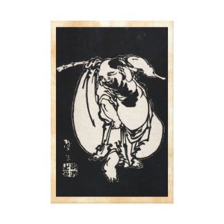 Classic japanese vintage ukiyo-e wandering poet gallery wrap canvas
