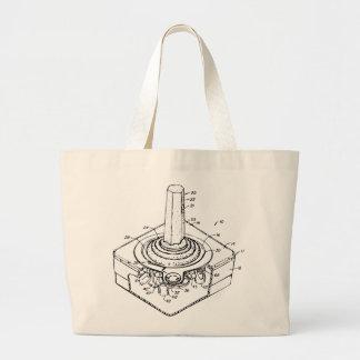 Classic joystick blueprint canvas bags