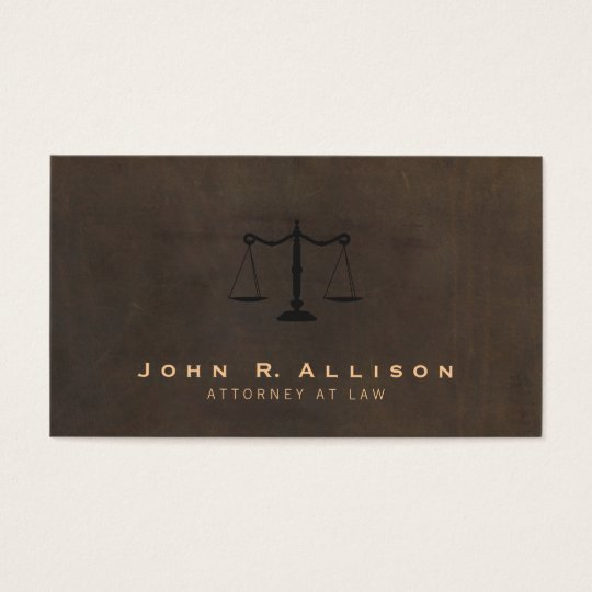 Classic Justice Scale Brown Leather Look Attorney Business