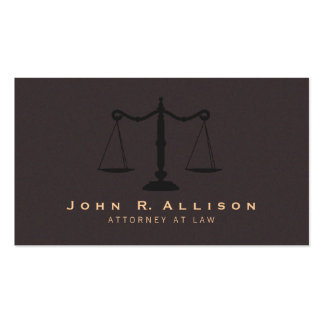 Classic Justice Scale Brown Suede Look Attorney Pack Of Standard Business Cards