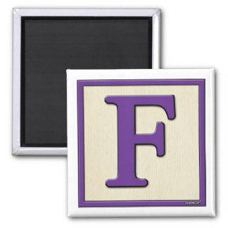 Classic Kids Letter Block F Magnet