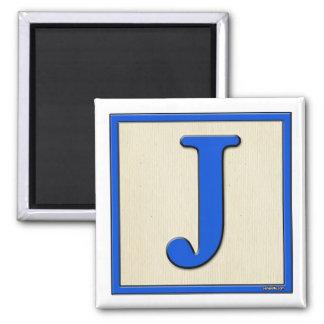 Classic Kids Letter Block J Fridge Magnets