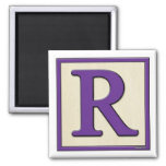 Classic Kids Letter Block R Square Magnet
