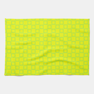 Classic Kitchen towel with yellow Abstract Design