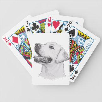 Classic Labrador Retriever Dog profile Drawing Bicycle Playing Cards