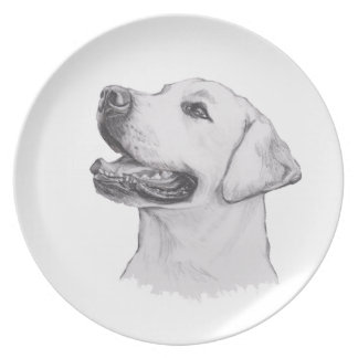 Classic Labrador Retriever Dog profile Drawing Plate