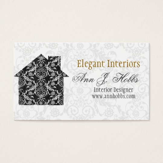 Classic Lace House Interior Designer Business Card