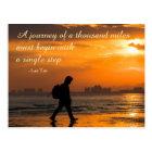 Classic Lao Tzu Journey Quote Postcard