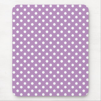 Classic Lavender and White Polka Dots Mousepad