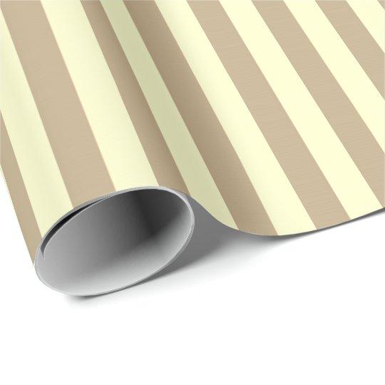 Classic Lemon Yellow Pastel Beige Stripes Paris Wrapping