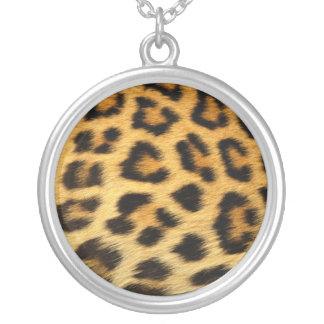 Classic Leopard Print Sterling Silver Nacklace Silver Plated Necklace