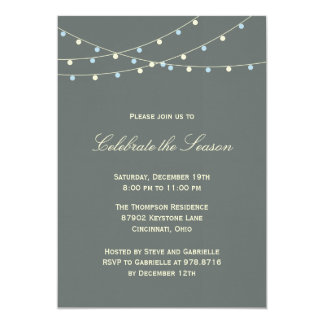 Classic Lights Holiday Party Invitation