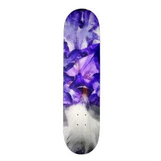 Classic Look Iris Closeup Custom Skateboard