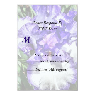 Classic Look Iris Closeup Wedding Products Personalized Invite