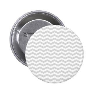 Classic Lt Gray White Thin Chevron Zig-Zag Pattern 6 Cm Round Badge