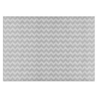 Classic Lt Grey Wht Thin#2 Chevron Zig-Zag Pattern Cutting Board