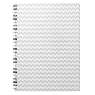 Classic Lt Grey Wht Thin#2 Chevron Zig-Zag Pattern Note Books