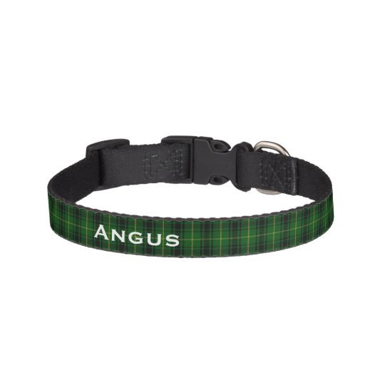 Classic MacArthur Tartan Plaid Custom Dog Collar