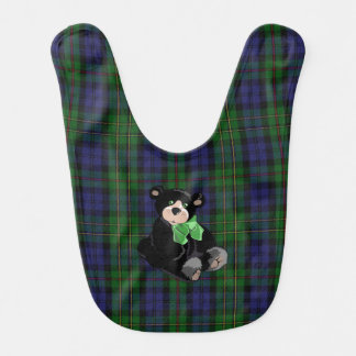 Classic MacEwen Plaid with Teddy Bear Baby Bib