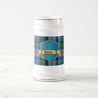 Classic MacNeil Tartan Plaid Stein Beer Steins