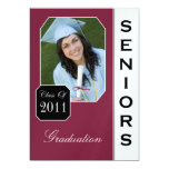 Classic Magenta Photo Graduation Announcements