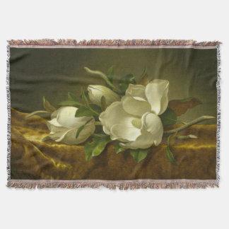Classic Magnolia Throw Blanket