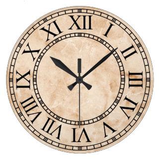 Classic Marble Roman Numerals Wall Clock