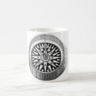 Classic Marine Etching - Compass Basic White Mug